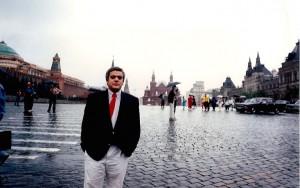 25 - Na Praça Vermelha, em Moscovo (1994)