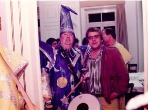 34A - Com Alberto João Jardim, durante a entrevista feita para o  Tal&Qual  durante os festejos do Carnaval de 1997