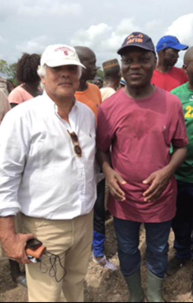 Com o Presidente da República da Guiné-Bissau, José Mário Vaz