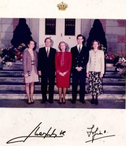 23A - Foto oficial da Família Real espanhola (1994)