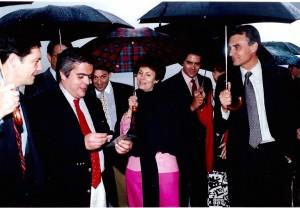 24 - Em Moscovo, com o primeiro-ministro Cavaco Silva (1994)