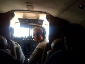39 - No Brasil, no cockpit de um Kingair 200, a voar entre Belo Horizonte e Recife (2010)